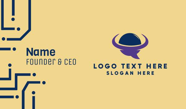 telehealth - Talk Planet Business card horizontal design