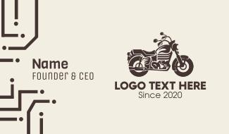 Brown Motorbike Business Card