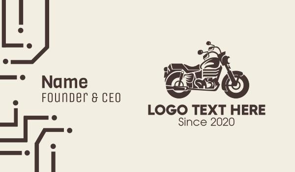transportation - Brown Motorbike Business card horizontal design
