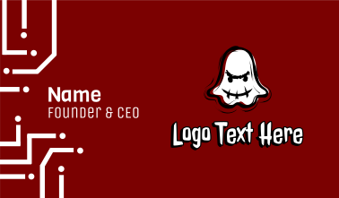 Ghost Mascot Gamer Business Card
