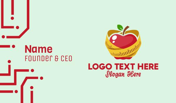 dietitian - Healthy Apple Diet  Business card horizontal design