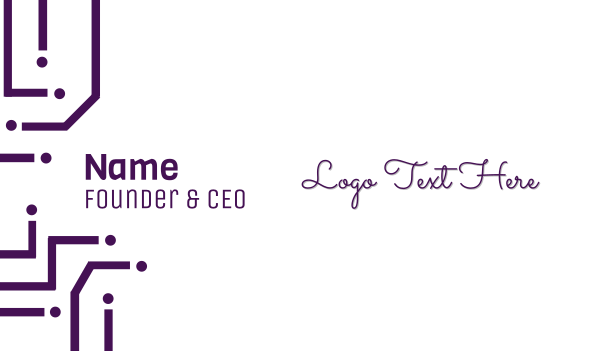 delicate - Thin Purple Business card horizontal design