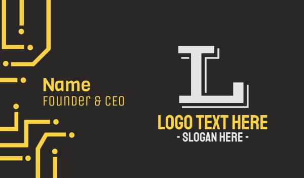 bargain - Sporty Text Font Business card horizontal design