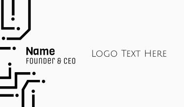 Simple Minimalist Wordmark Business Card