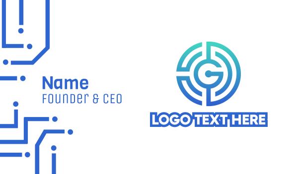 labyrinth - Tech G Labyrinth  Business card horizontal design