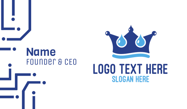 bathroom - Water King Crown Business card horizontal design