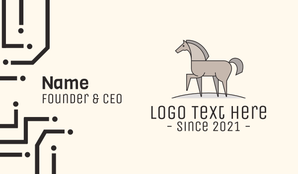 animal welfare - Walking Horse Business card horizontal design