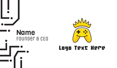 Yellow Smiling Controller Business Card