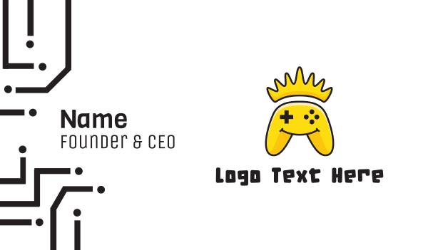 yellow banana - Yellow Smiling Controller Business card horizontal design