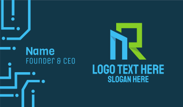 N & R Monogram Business Card