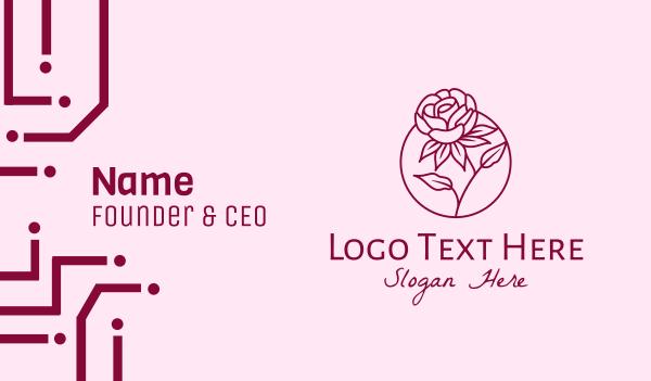 perfume - Rose Flower Bloom Business card horizontal design
