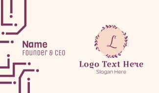 Minimalist Beauty Letter Business Card