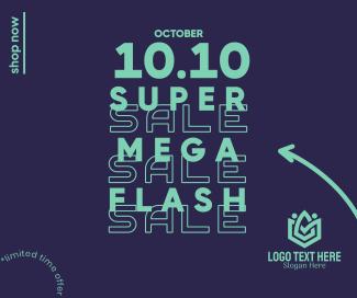 Flash Sale 10.10 Facebook post
