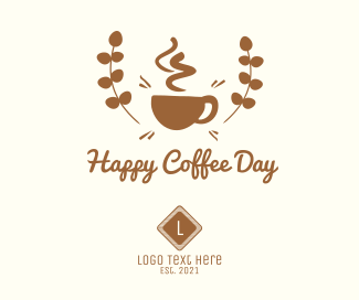 Happy Coffee Day Badge Facebook post