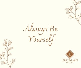 Always Be Yourself Facebook post