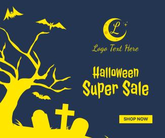Halloween Super Sale Facebook post
