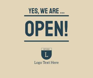We're Open Facebook post