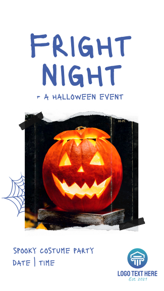 Fright Night Party Facebook story