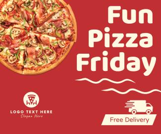 Fun Pizza Friday Facebook post