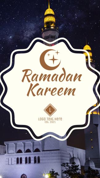 Ramadan Facebook story
