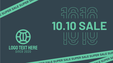 10.10 Super Sale Tape Facebook event cover