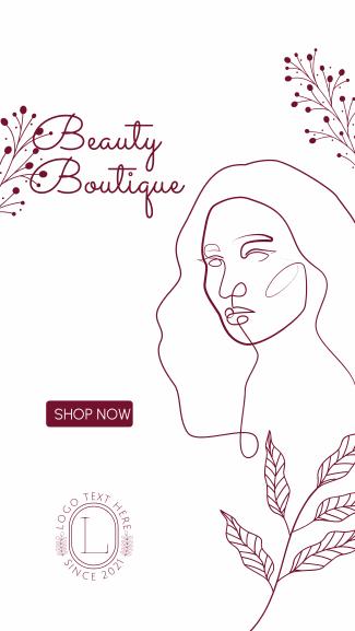 Women Beauty Boutique Facebook story