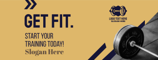 Get Fit Weight Lifting  Facebook cover