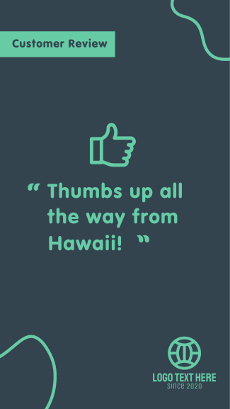 Thumbs Up Review Facebook story