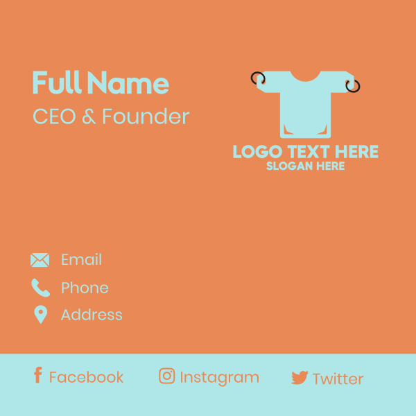Price Tag Shirt Business Card
