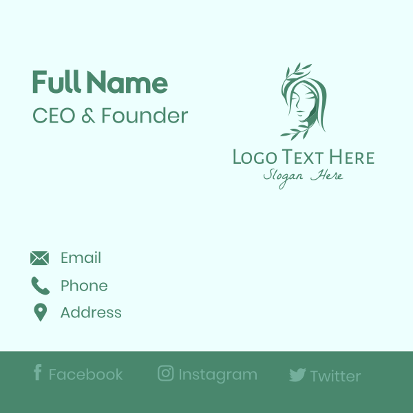 Natural Beauty Spa Business Card