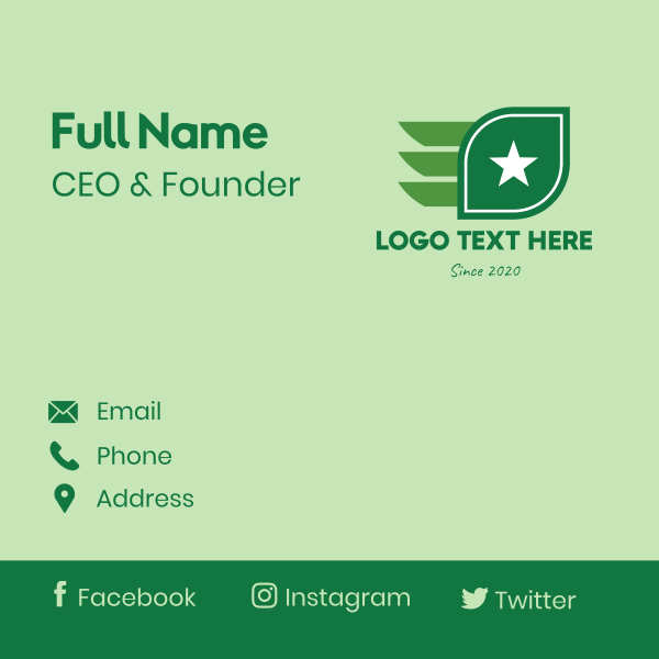 Star Leaf Wings Business Card