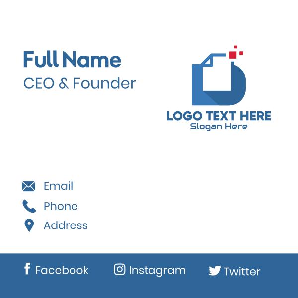 Document Letter D Business Card