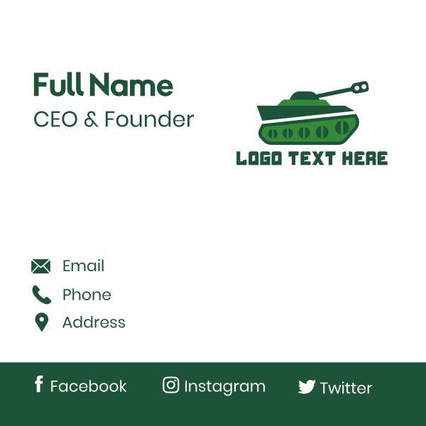 Green Tank Business Card