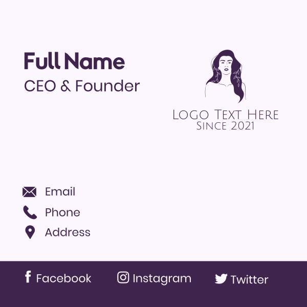 Purple Purple Woman Business Card