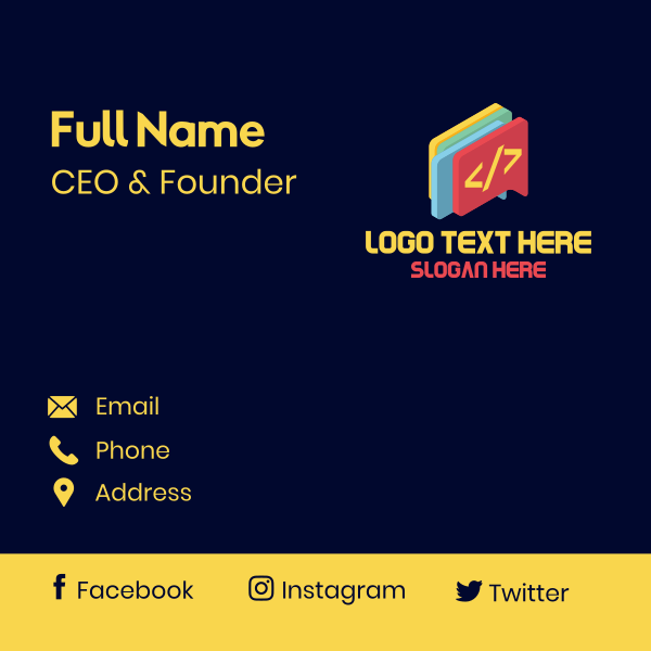 Code Chat Bubble Business Card