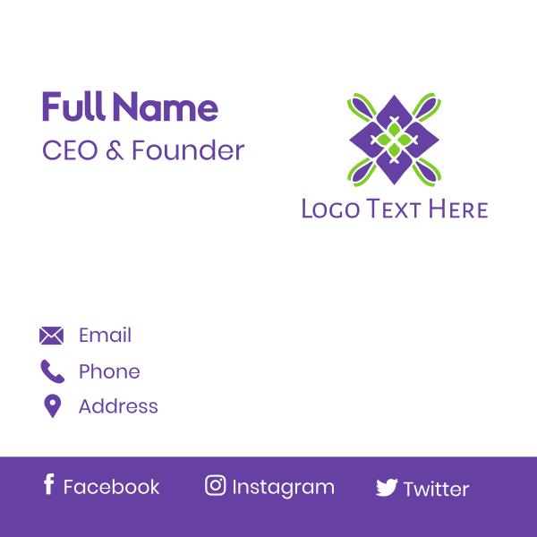 Violet Spa Badge Business Card