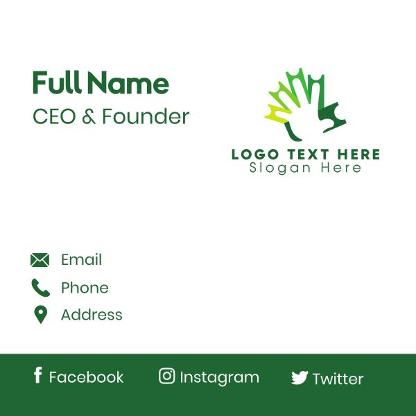 Green Ticket Hand Business Card