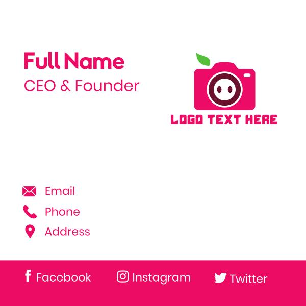 Pig Photographer Camera Business Card