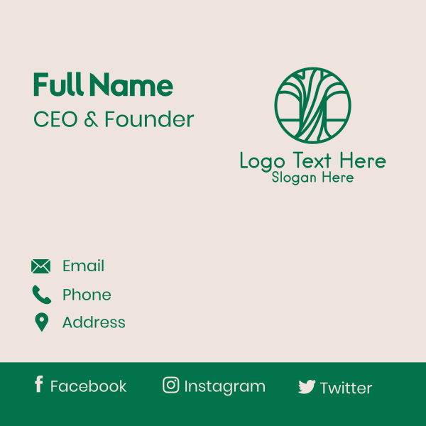 Green Forestry Botanical Business Card