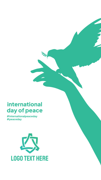 Day Of  Peace Hand Facebook story