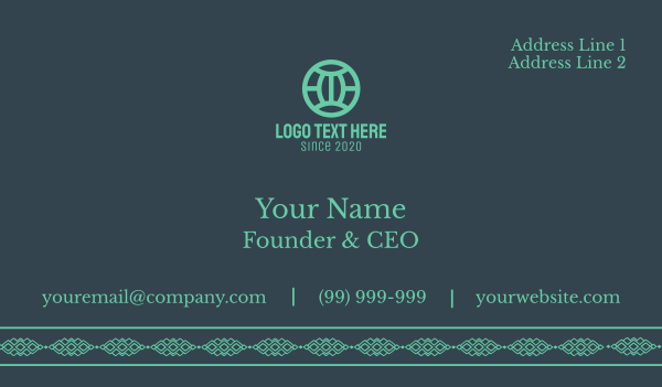 bohemian - Bohemian Business card horizontal design