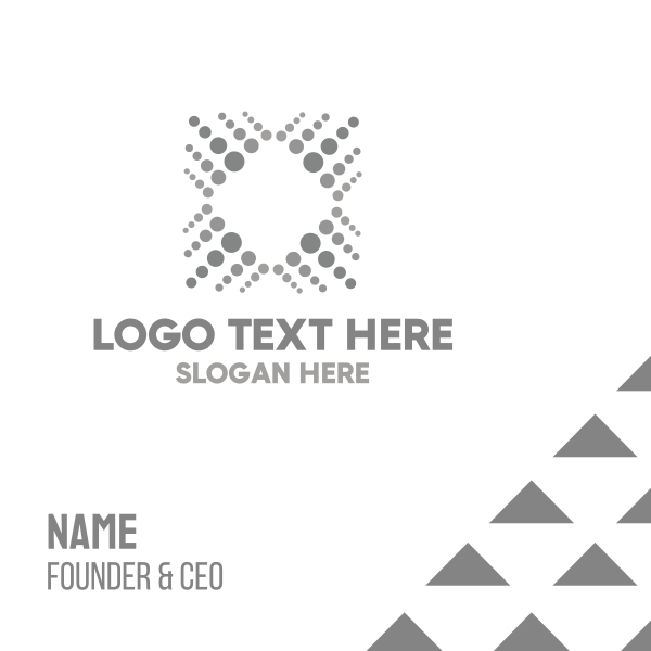 Grey Dots Business Card