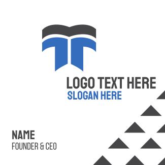 Modern Letter T Business Card