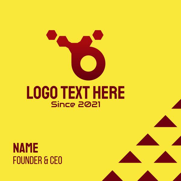 Red Hexagon Technology Business Card