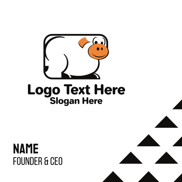 Rectangle Cow Business Card