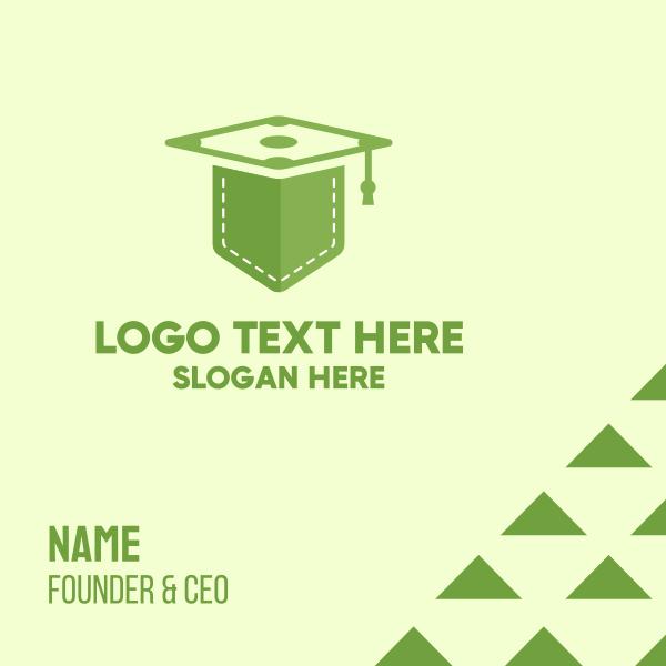 Green Pocket Graduation Business Card
