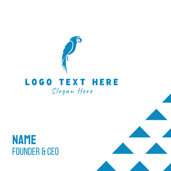 Blue Parrot Business Card