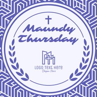 Maundy Thursday Holy Thursday Instagram post