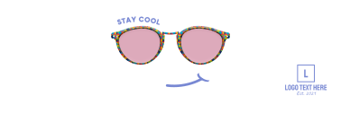 Stay Cool Glasses Twitter header (cover)