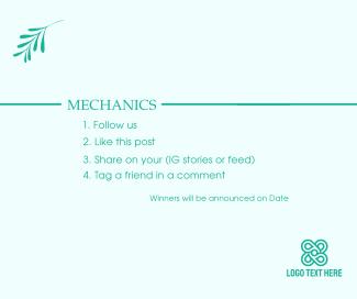 Giveaway Mechanics Facebook post